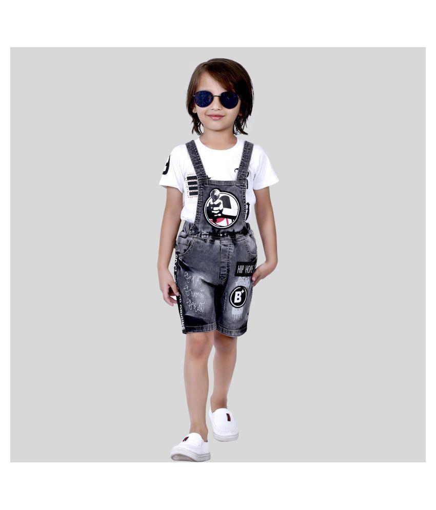 Bad Boys Super Comfy & Stylish Detachabe Dungaree & T-shirt Set.
