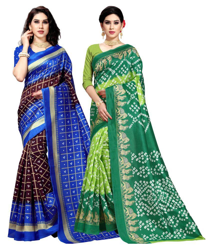 Sherine Green Lichi Silk Saree