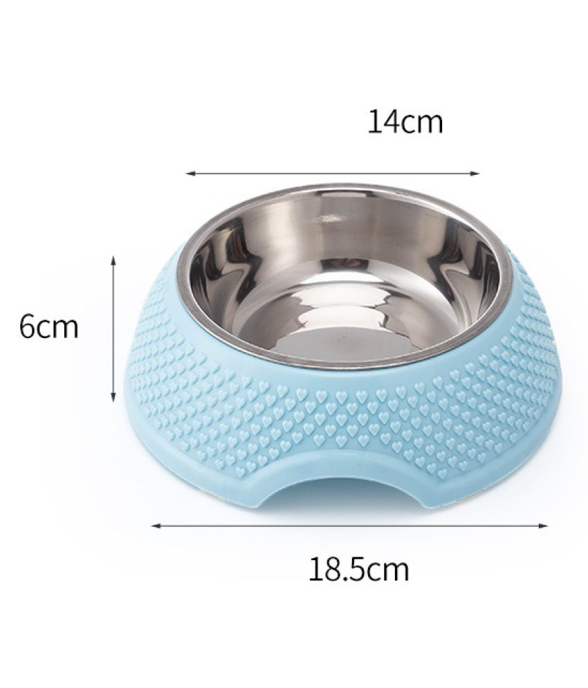 Emily Pet Cat Bowl Raised No Slip Stainless Steel Elevated Stand Tilted Feeder Bowls Pet Feeding Needs