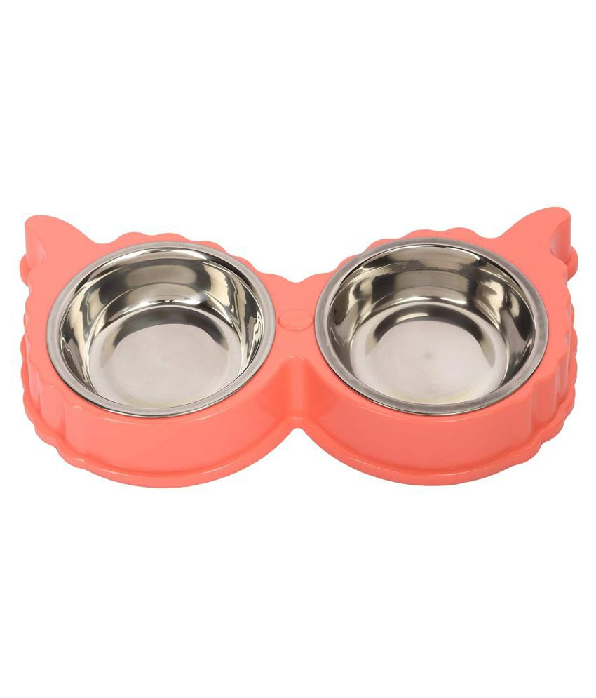 Emily Pets Emily Pets Stainless Steel Removable Anti Slip Food and Water Dog Bowl for Dog and Cat