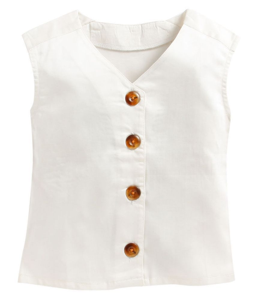Hopscotch Baby Girls Mill Made Cotton Top With Attached Buttons & Pant Set in Multi Color For Ages 18-24 Months (PCL-1998263)