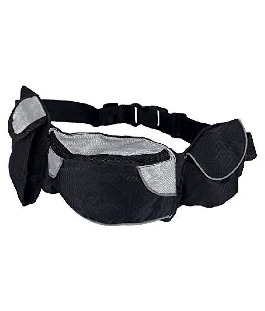 Trixie Baggy Belt Hip Bag- Black/Grey