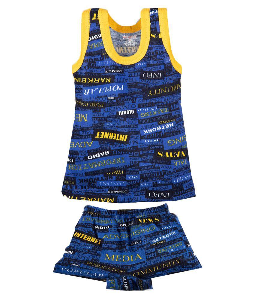 Care In Boys & Kids Sndo Vest & Brief Combo