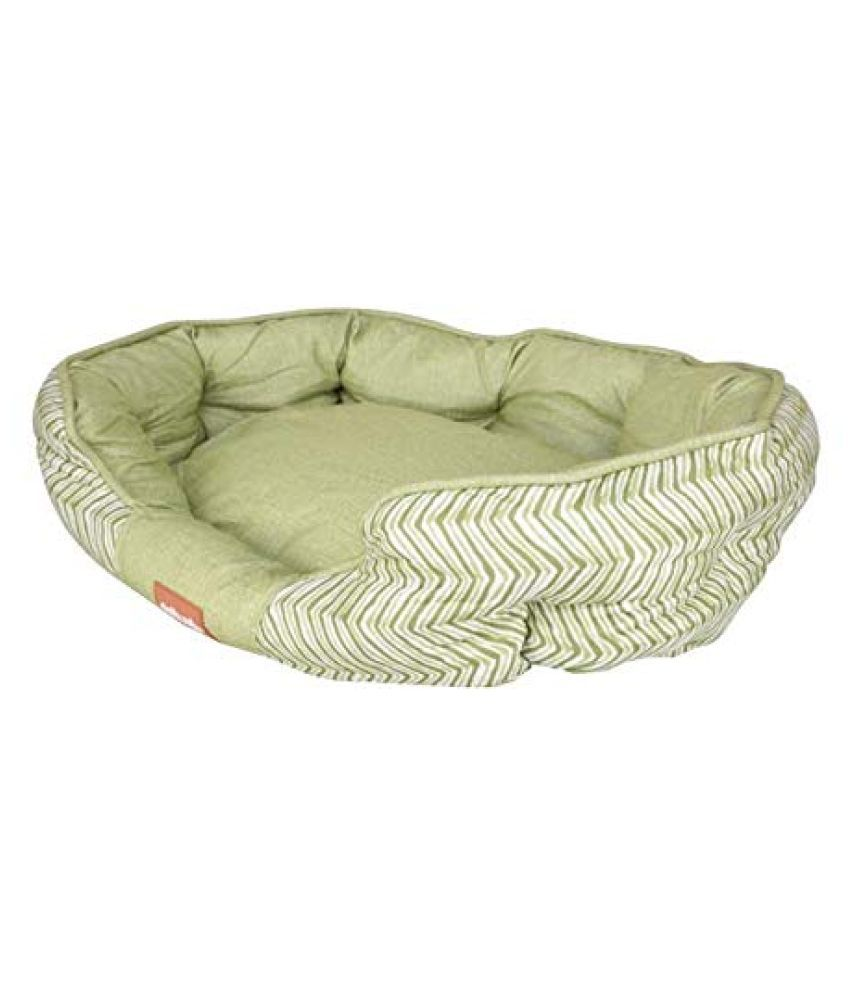 Emily Pets Simple Sleeper Self Warming Cute Calming Cat Bed for Cats and Dog Green