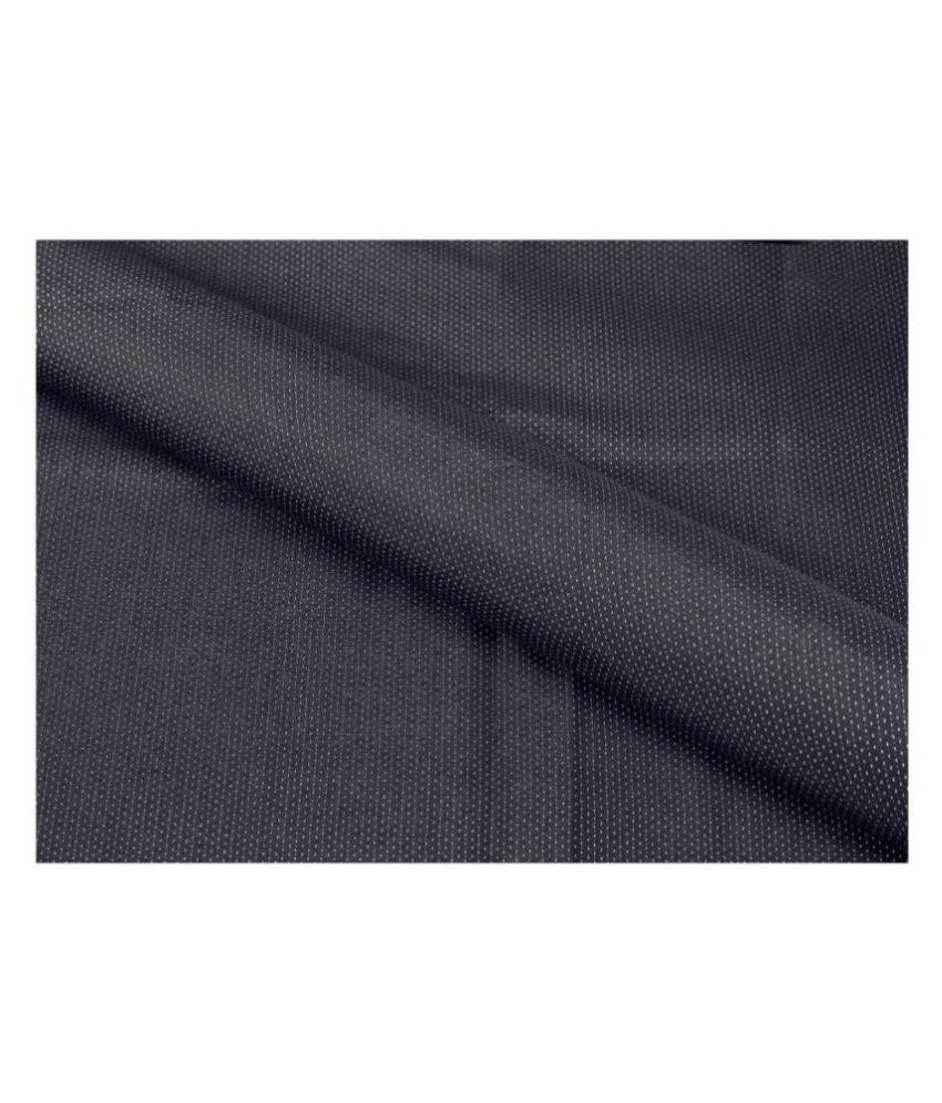 Makhanchor Black 100 Percent Cotton Unstitched Shirt pc Single