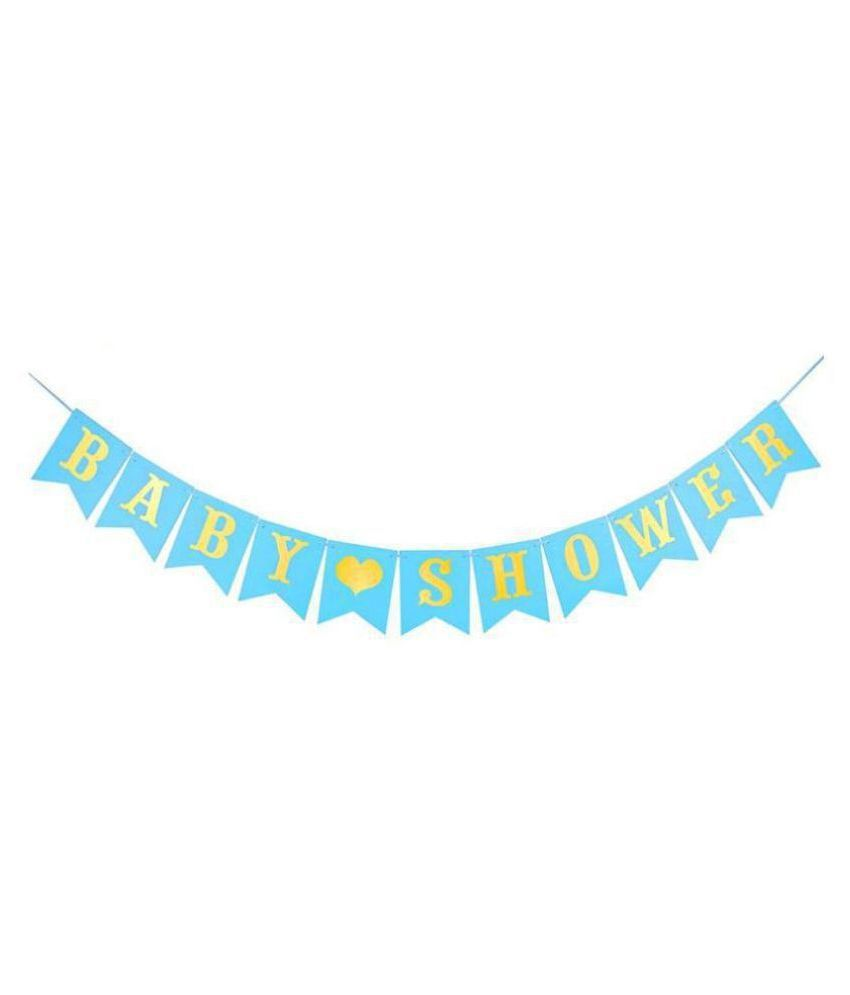 Chocozone Baby Shower Banner Blue Baby Shower Decoration Items Party Propz for Mom to Be