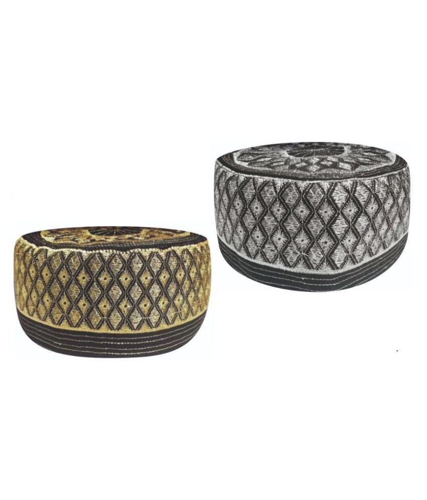 Ertugrul Ghazi Cap GoldenRod Embroidered Fabric Caps
