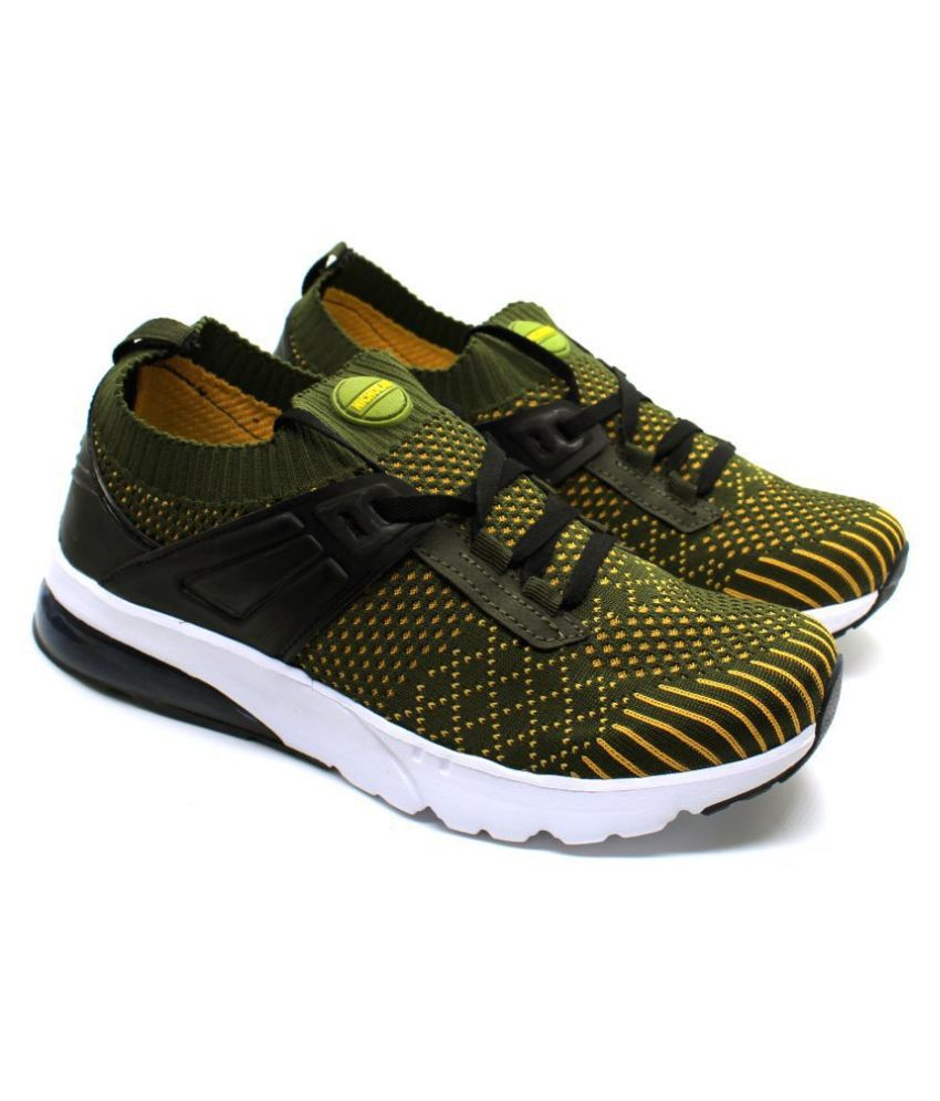 Nicholas Lifestyle Olive Running Shoes