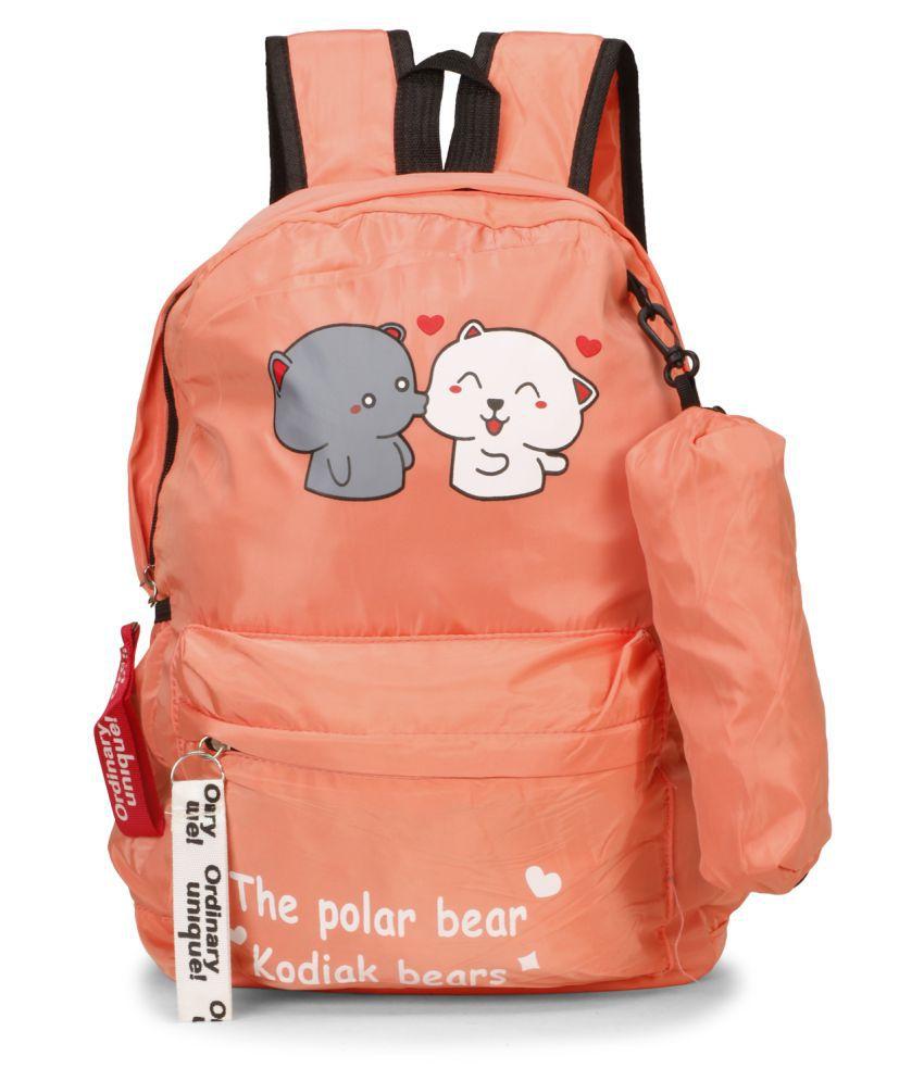 aims fusion Orange Fabric College Bag