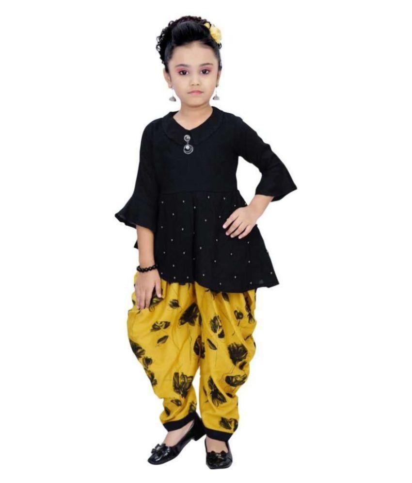 Clobay elegant dhoti and top set for girls