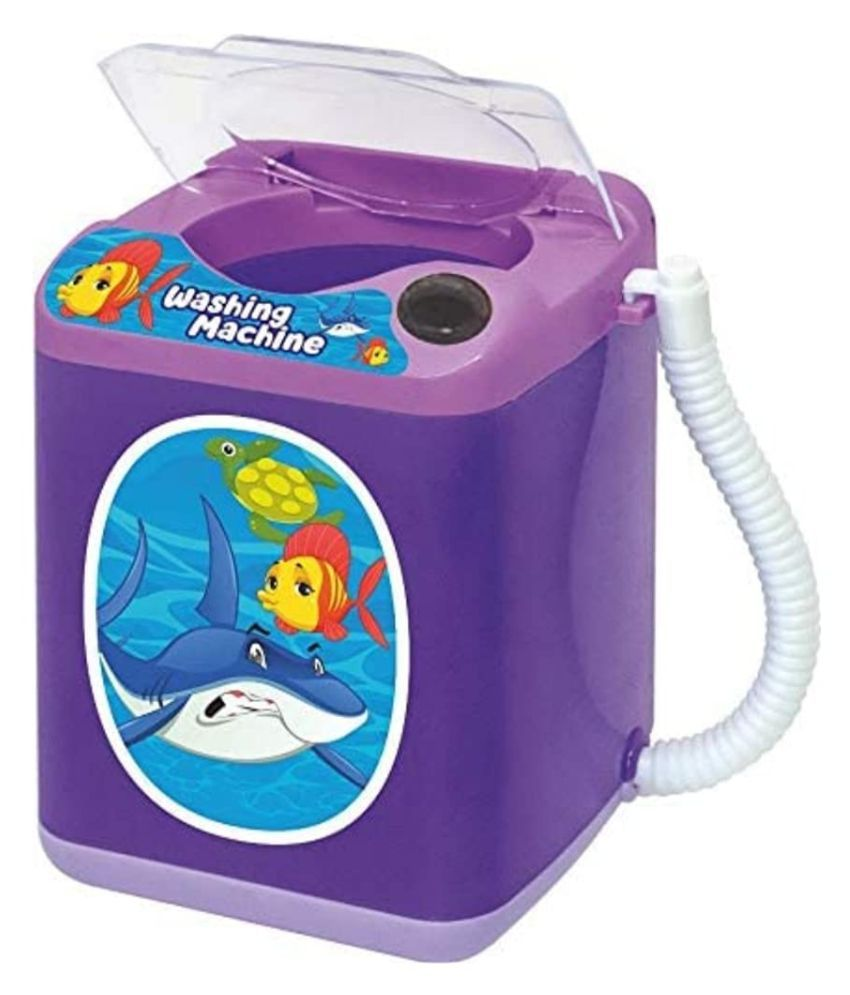 Plastic Purple Household Washing Machine Toy for Kids- Age Group - 2 Years and Above - (Pack of 1)