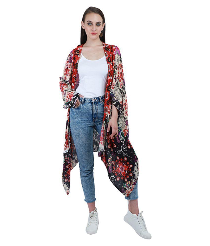 Marigold Polyester Multi Color Wrap Dress