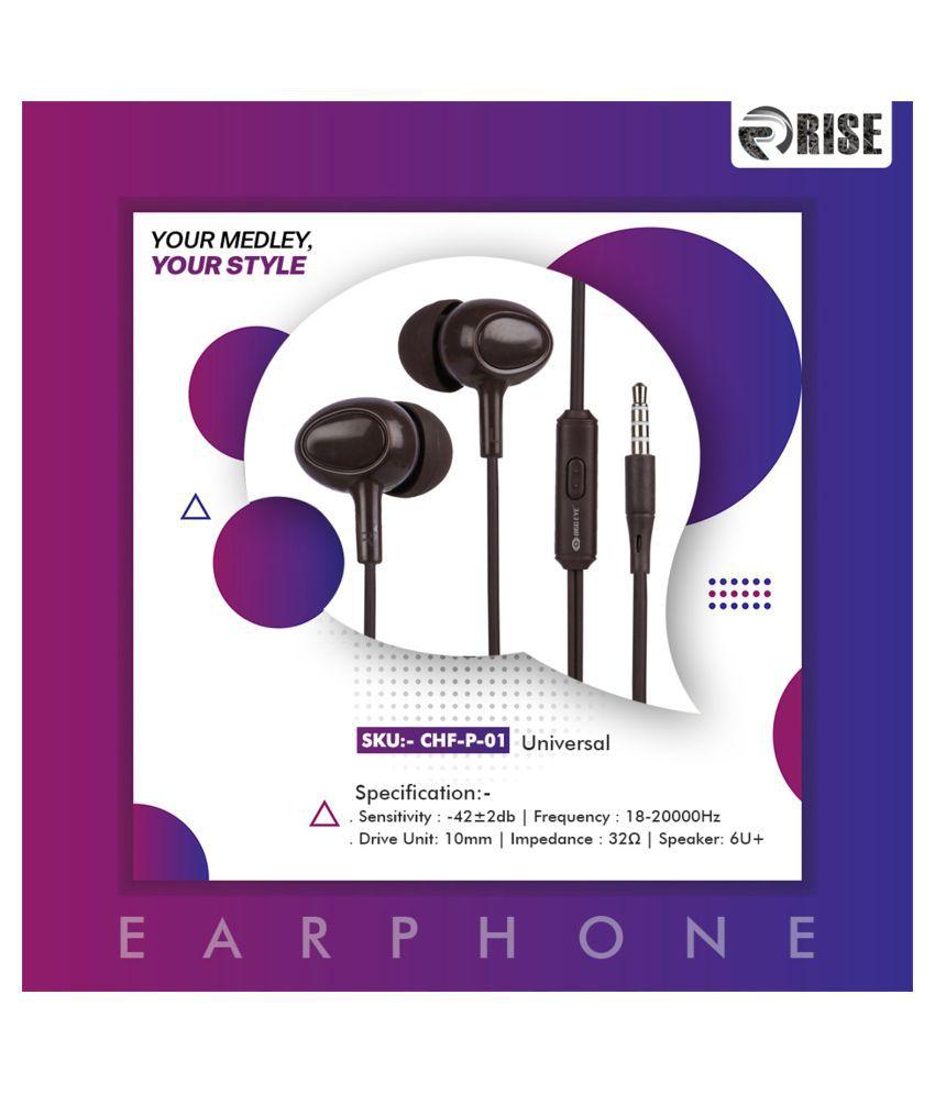 Bigg Eye CHF P 01 Universal In Ear Wired With Mic Headphones/Earphones