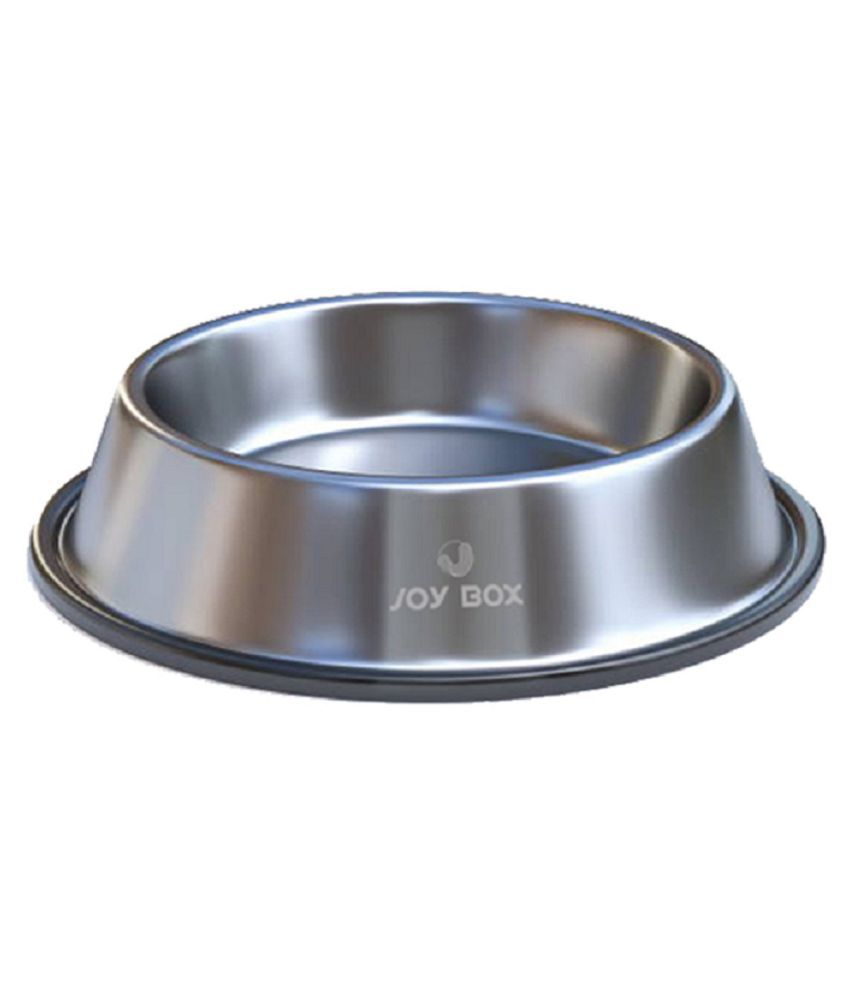Joy Box Stainless Steel Anti Skid Non Tip Pet Food Bowls for Dogs & Puppies to Feed Water & Food (Size Medium)