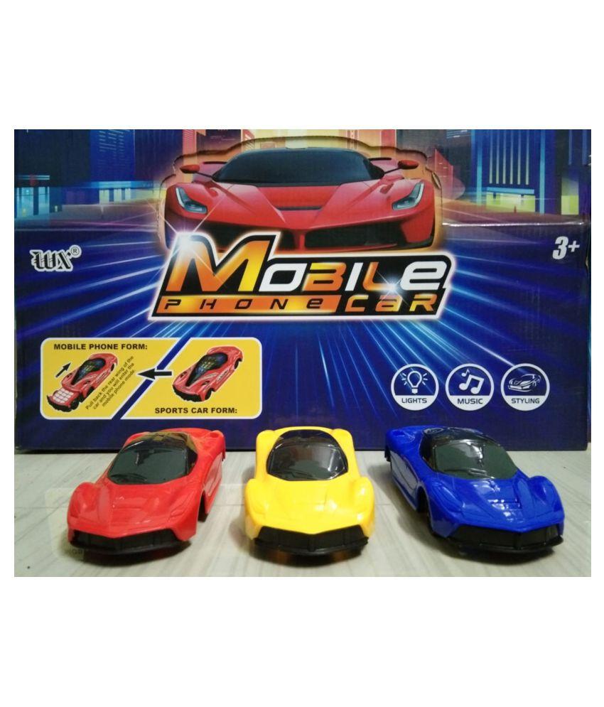 Mobile phone racing car   1 pc