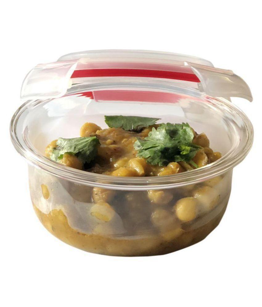 Vertis Red Glass Lunch Box