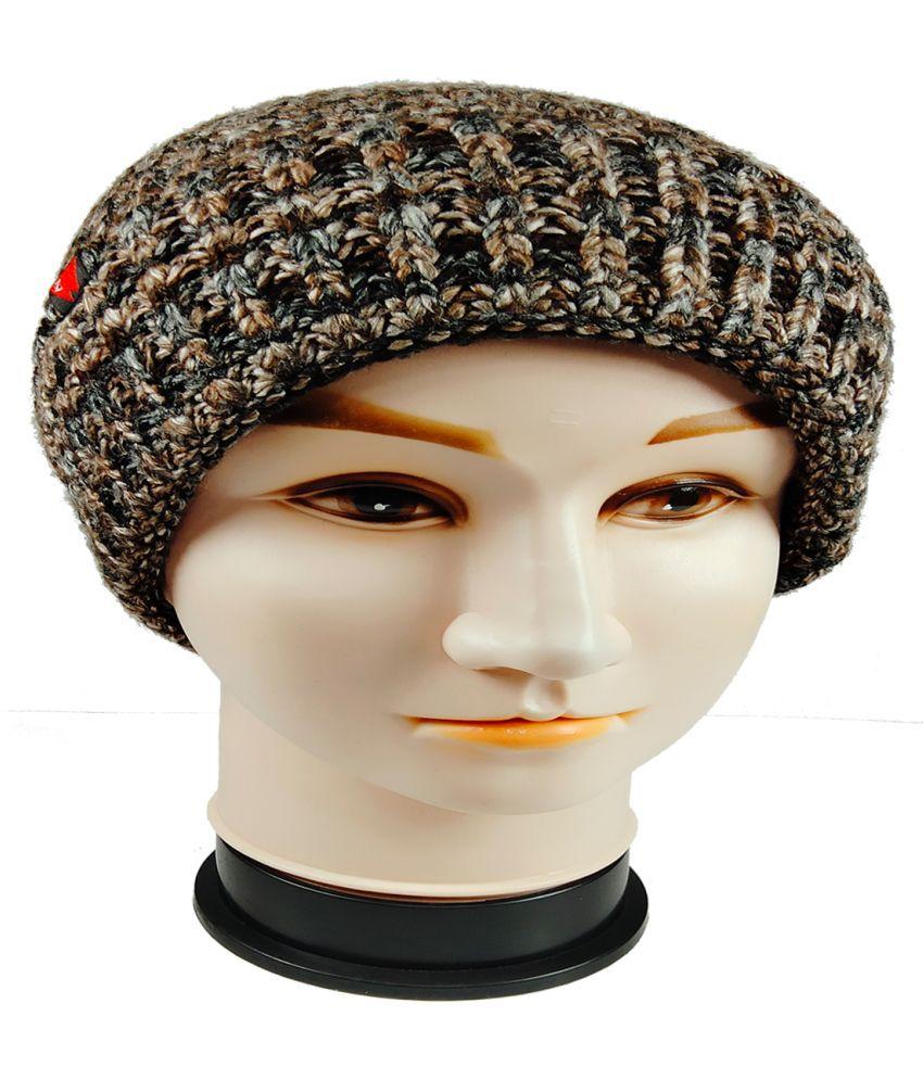 WARMZONE Brown Striped Acrylic Caps