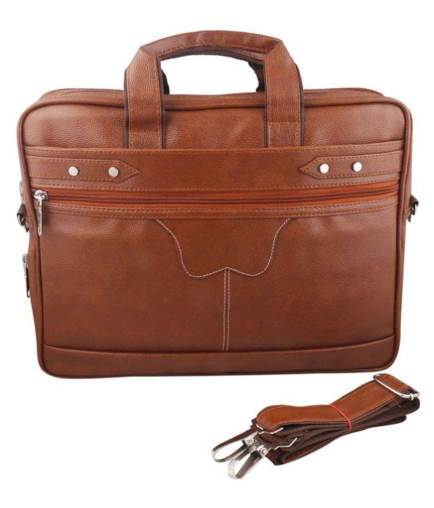 SW Super World ModernStylish Laptop Tan Synthetic Casual Messenger Bag