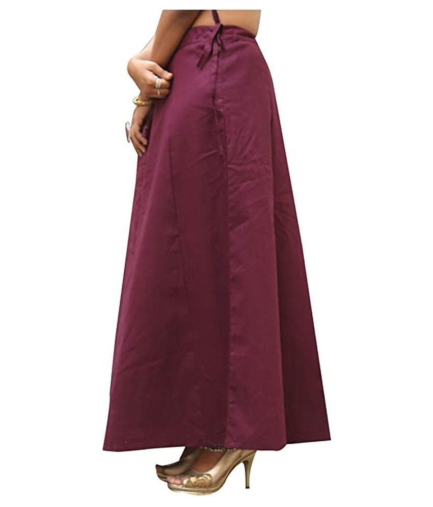 Konammal company Maroon Cotton Petticoat