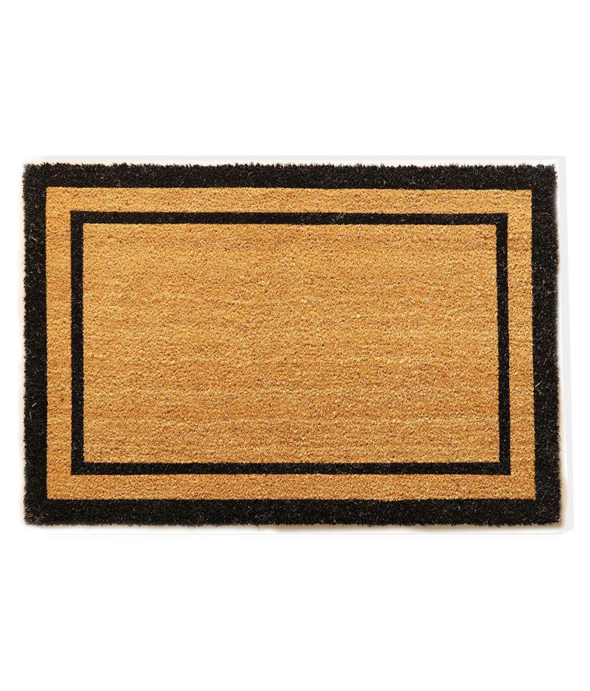 SUPREME HOME CREATIONS Black Single Anti-skid Floor Mat
