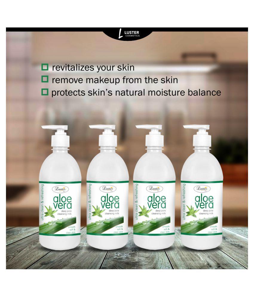 Luster Aloe vera Milk Cleanser 500 mL Pack of 4
