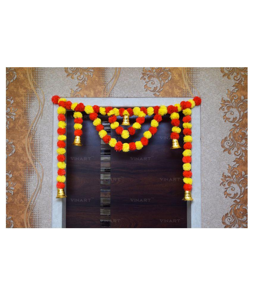 VINART Plastic Diwali Toran Orange - Pack of 1