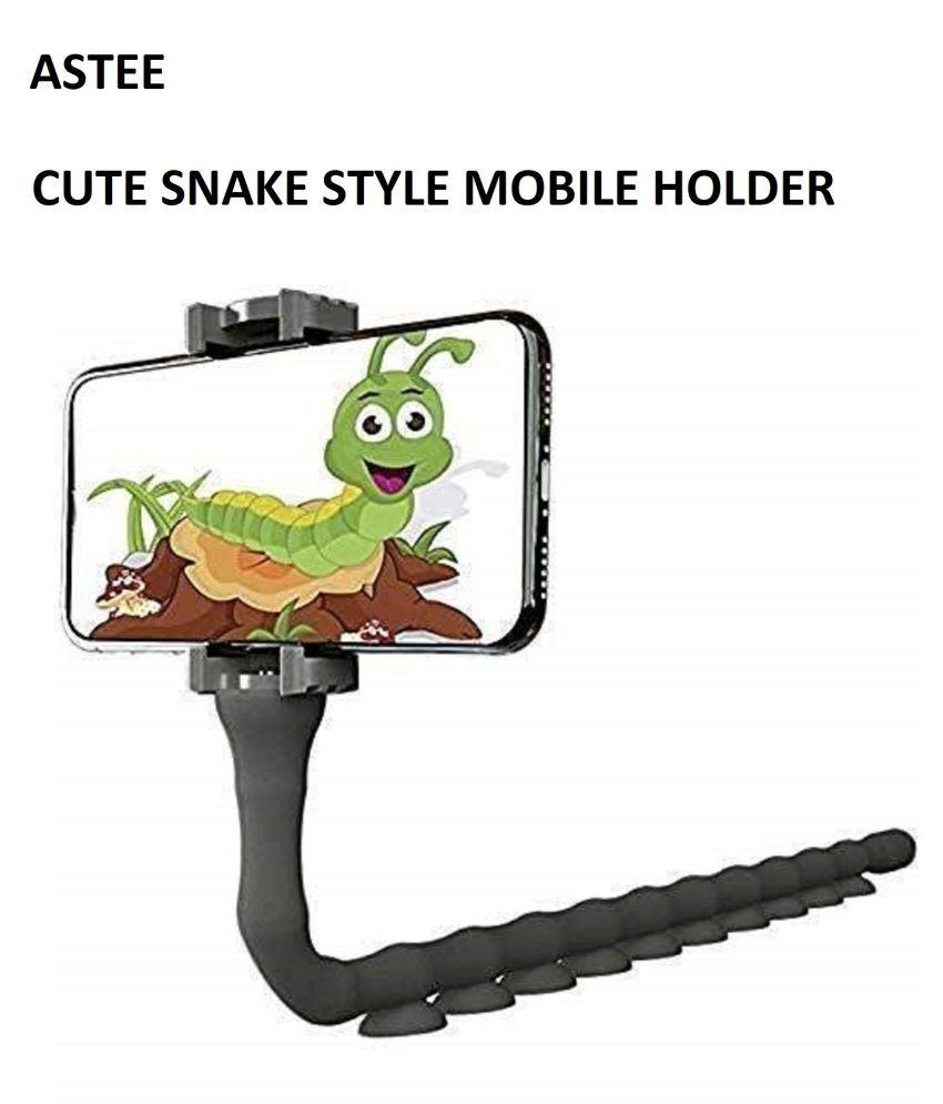 ASTEE SNAKE STYLE Mobile Phone Holder Cute Snake Travel Outdoor La-zy Bracket Flexible Rubber Octopus Wall Desktop