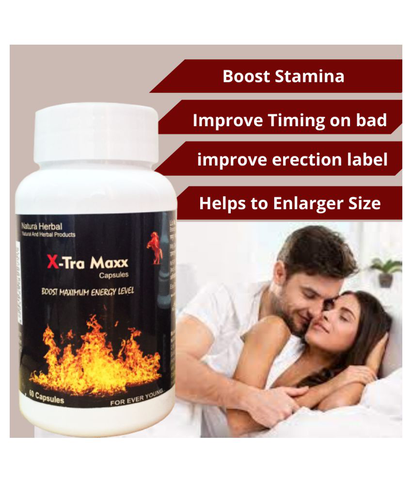 Xtra Maxx Size & stamina Booster (60 Capsules)-1bottle 60 no.s Unflavoured