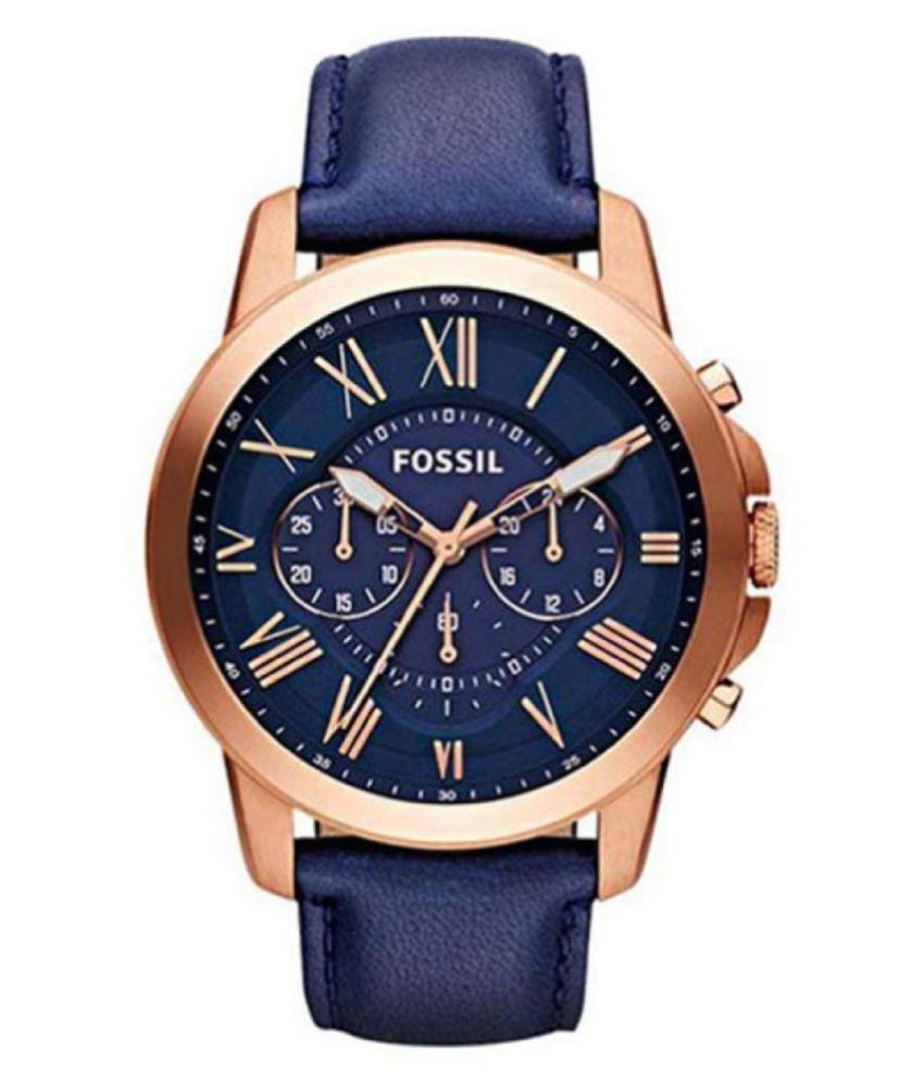 Fo ssil  F.1  Fs 4835 Leather Chronograph Men #039;s Watch