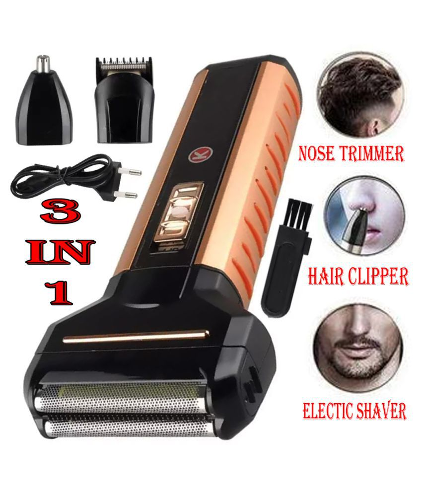 KH Professional 3in1 Multifunction Cordless Electric Nose Hair Trimmer Casual Gift Set