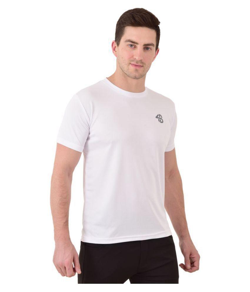 Forbro White Cotton Blend T-Shirt Single Pack