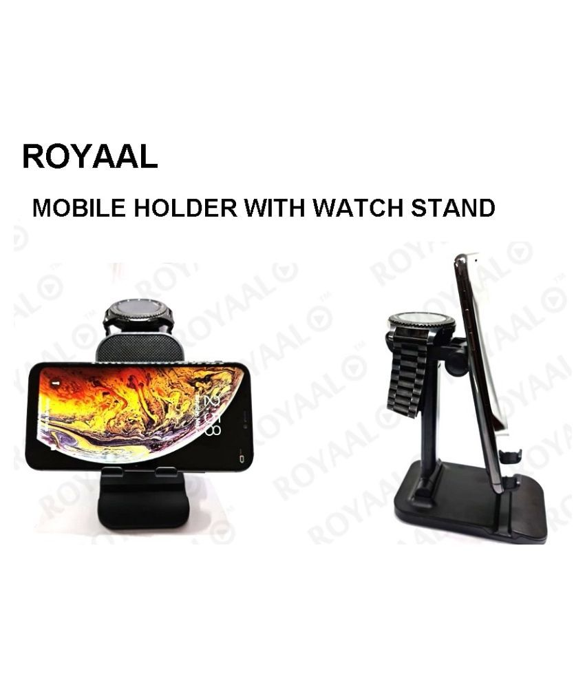 ROYAAL FOLDING DESKTOP PHONE And WATCH  STAND UNIVERSAL Phone Holder with adjustable height
