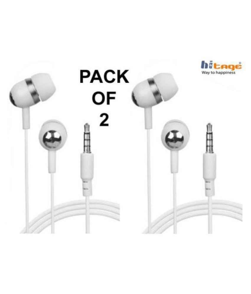 hitage na In Ear Wired With Mic Headphones/Earphones