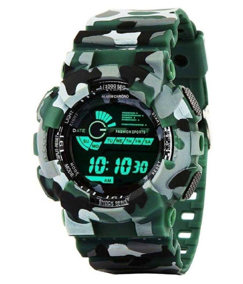 Viser Look Digital Multicolour Military Strap Boy's Watch Digital Watch - For Boys