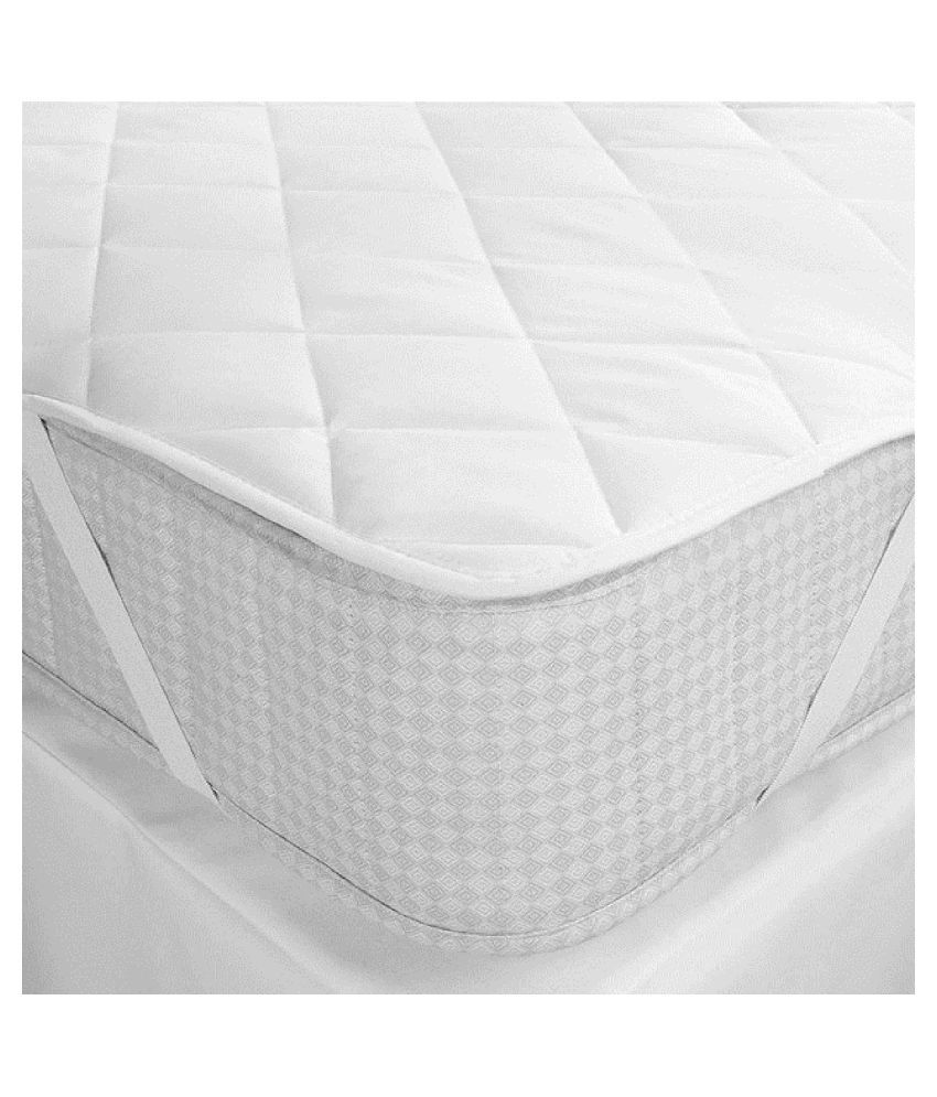 GOOD PRICE WATER PROOF BEDCOVER White Quilted Mattress Protector