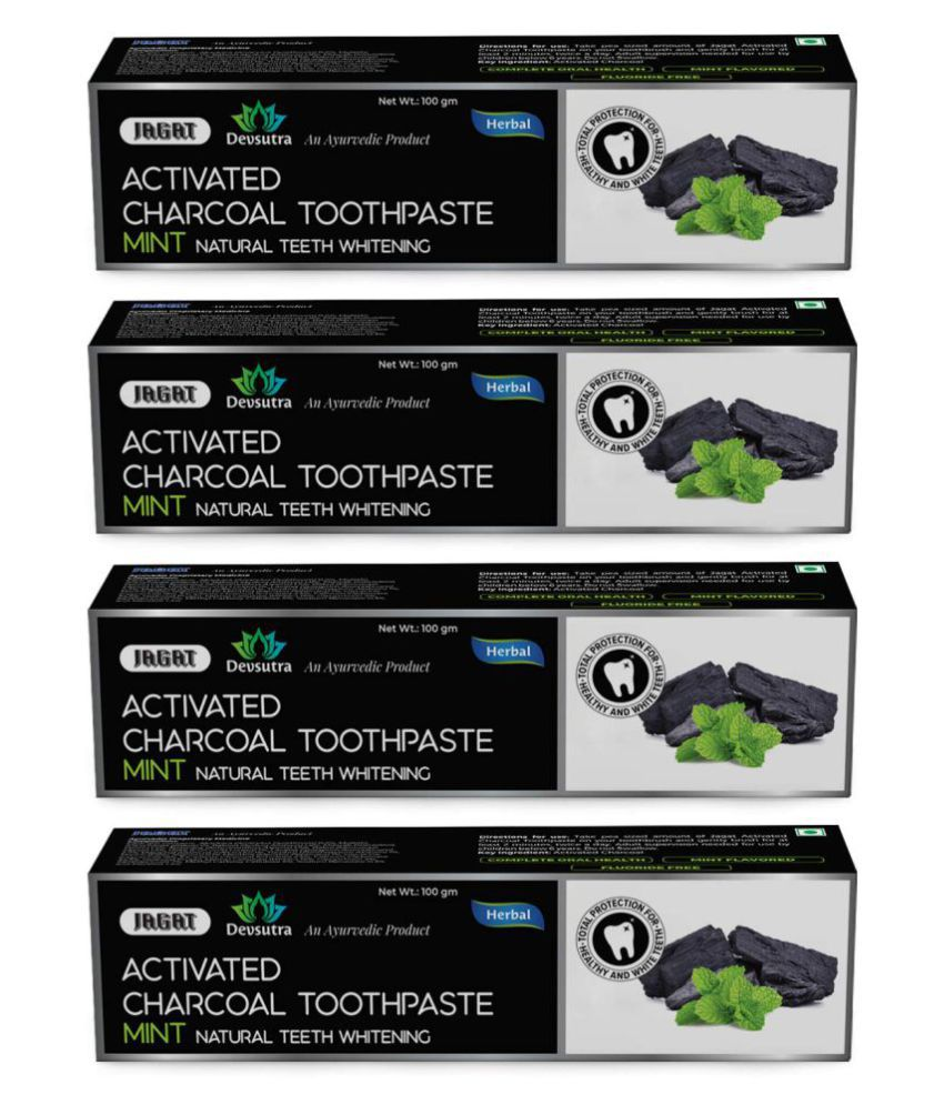 JAGAT - charcoal Toothpaste 100 gm Pack of 4