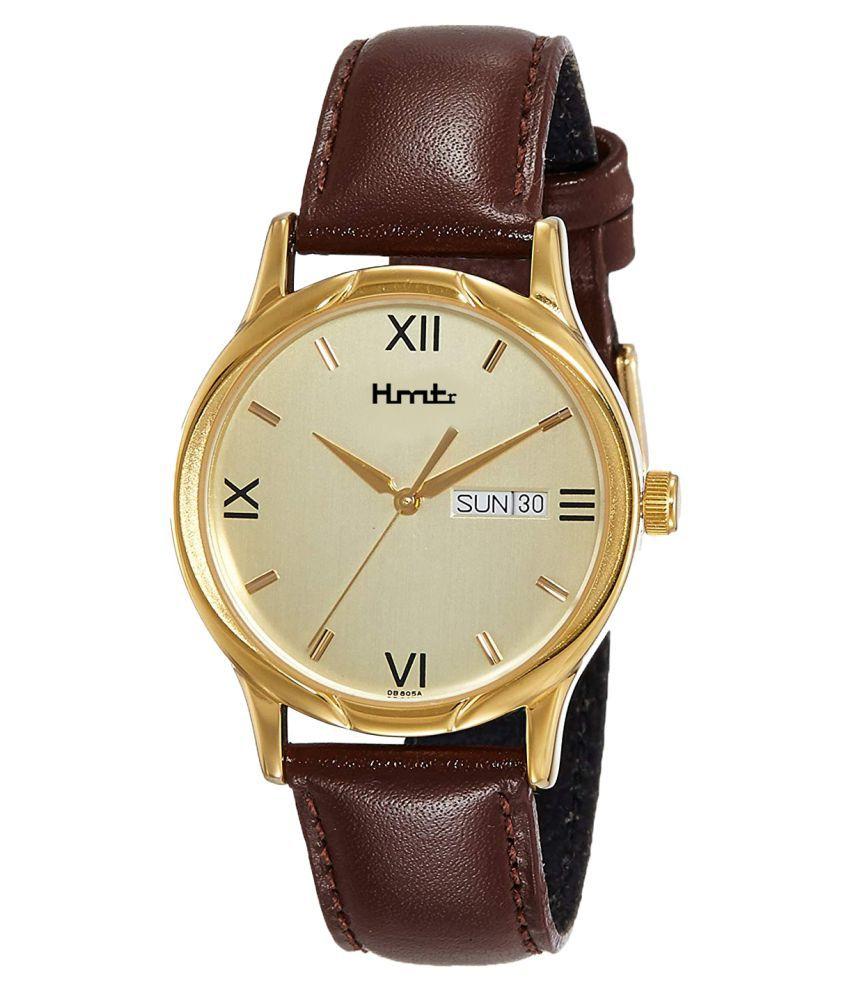 HMTr 6061-GOLDEN Leather Analog Men's Watch