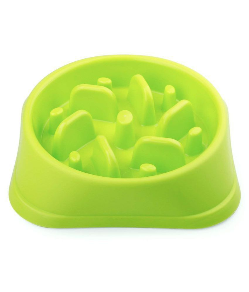 JASGOOD Dog Feeder Slow Eating Pet Bowl Eco-Friendly Durable Non-Toxic Preventing Choking Healthy Design Bowl for Dog Pet?S-M,Green?