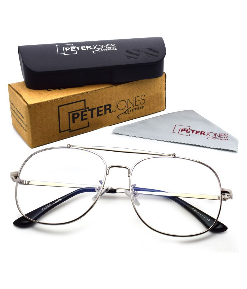 Peter Jones Silver Square Spectacle Frame AG3133S