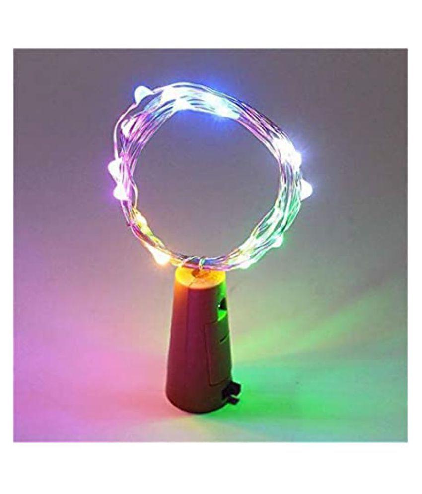 thriftkart 20 LED Wine Bottle Cork String Lights Multi