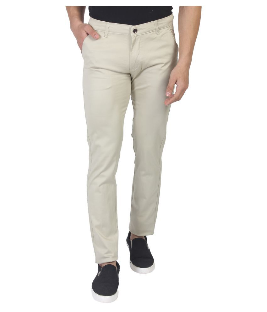 Fluidic Grey Regular -Fit Flat Trousers