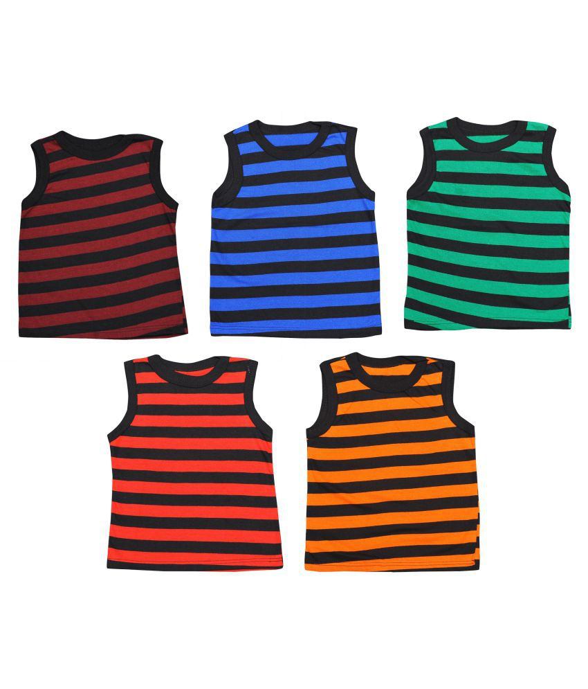 Baby Girls Vest Cotton  (Multicolor, Pack of 5)