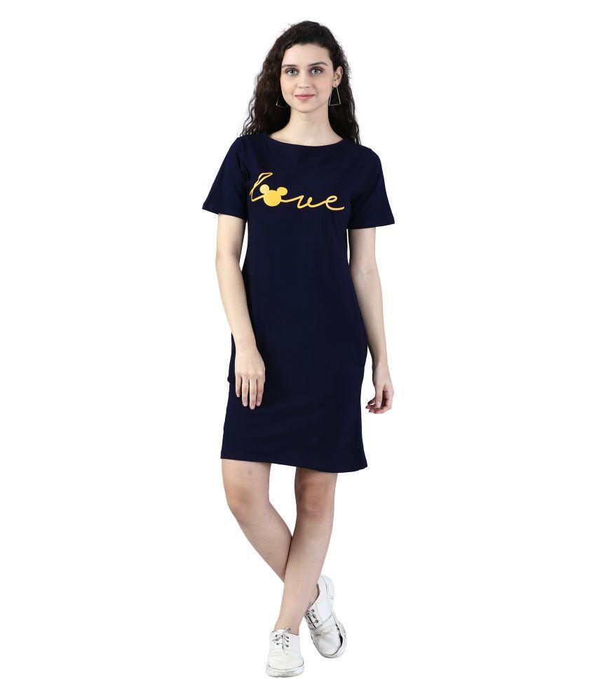 Broadstar Cotton NAVY Bodycon Dress - Single