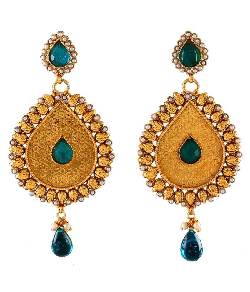 Dangle Earrings 18K Gold Plated Pearl Studded Pearl Sparkling Pearl Dangle Earrings 18K Gold Plated Pearl Studded for Girlfriend Wife Sparkling Pearl