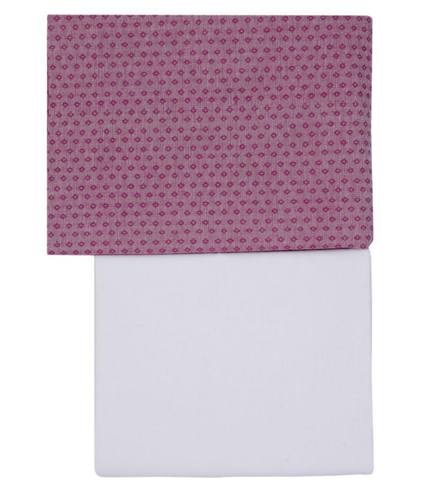 Maharaja Purple 100 Percent Cotton Unstiched Kurta Pyjama