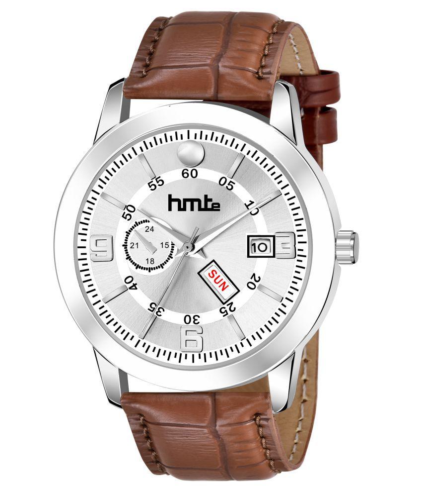 HMTe HM-9792 Leather Analog Men's Watch