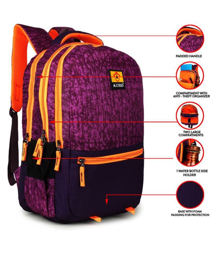 Azibo Multi Color Polyester College Bag