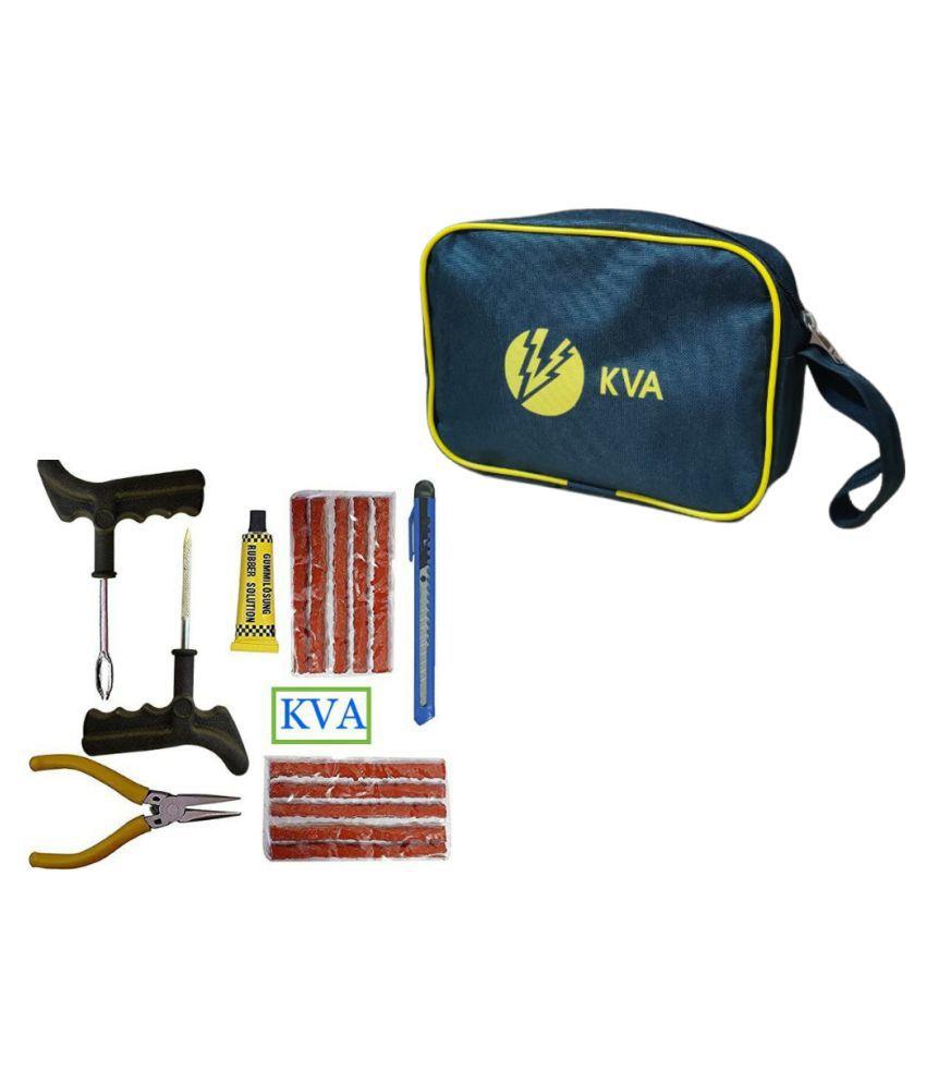 KVA PLUS Tubeless Tyre Puncture Repair Kit 5 - 10 Strips