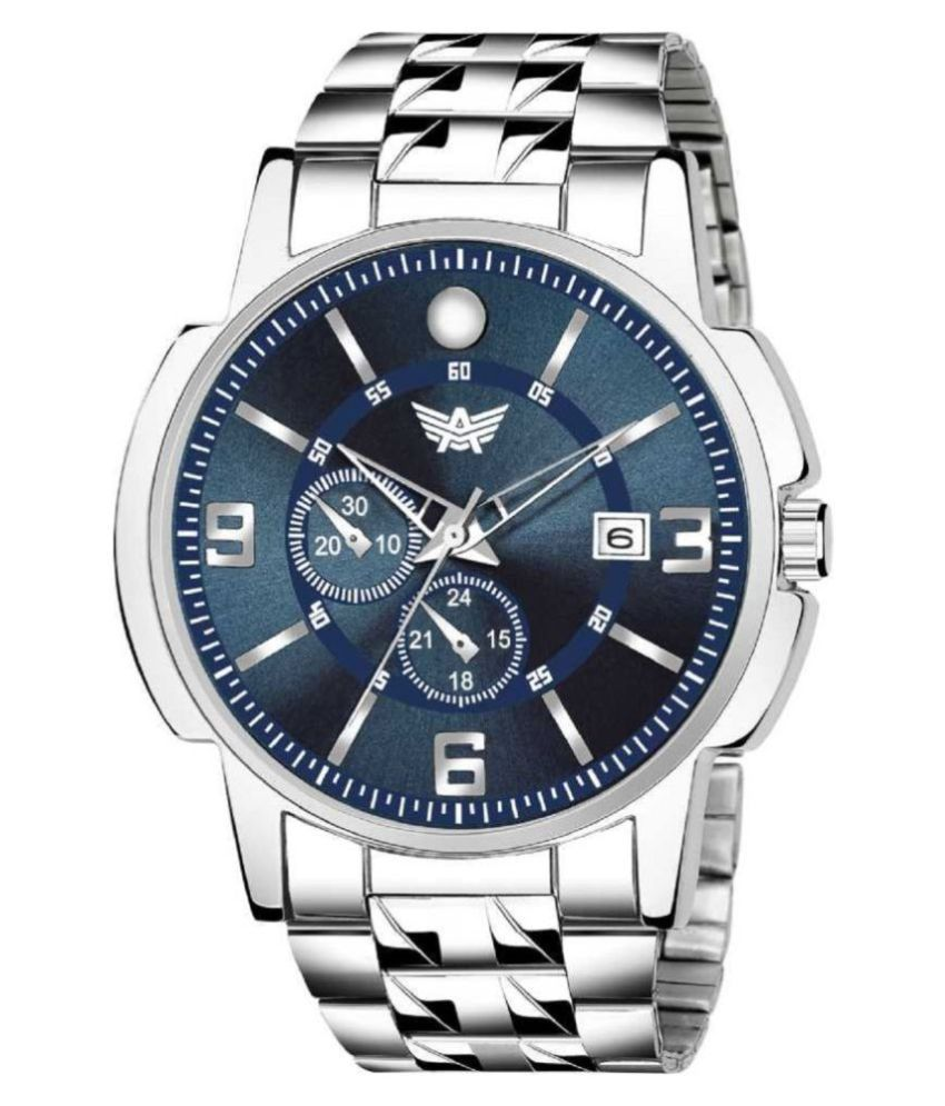 Abrexo Abx 2266 BL Stainless Steel Analog Men #039;s Watch