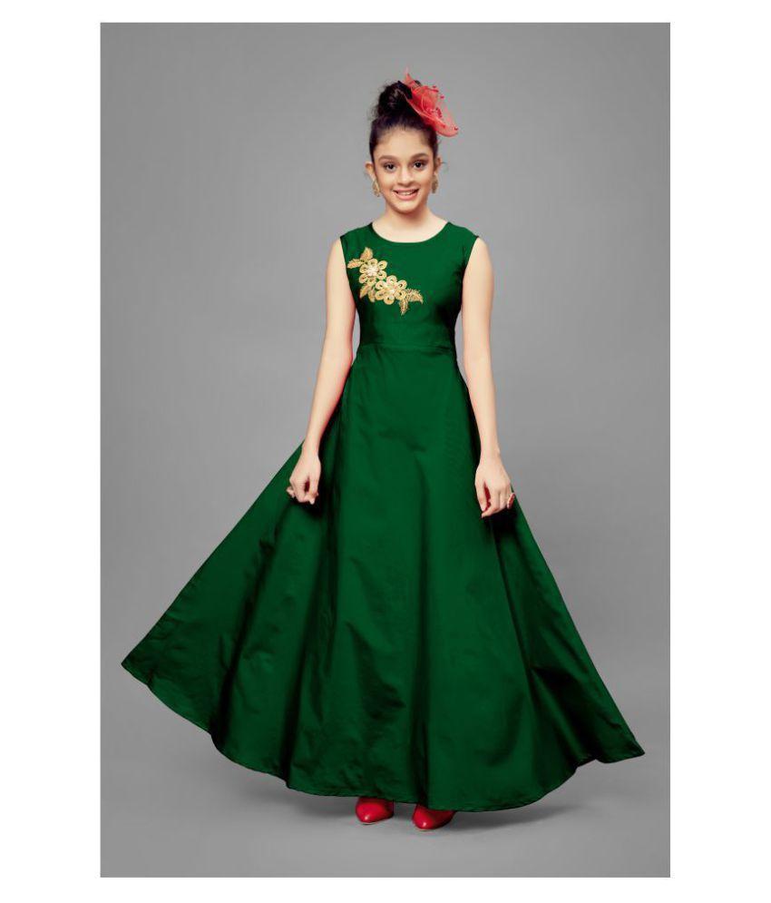 Fashion Dream Girl #039;s Party Wear Maxi Frock Dress
